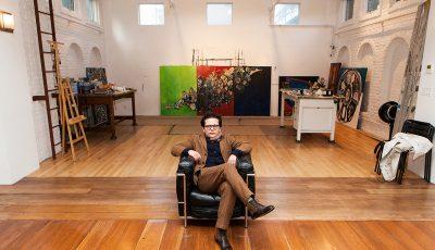 Georges Bergès in the Midtown Manhattan Studio. Courtesy of Georges Bergès Gallery.