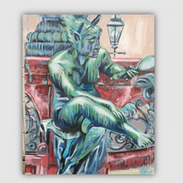 Hamburger Rathaus Brunnen Skulptur by Kay Woo-Ling