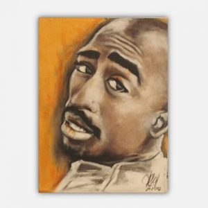2 Pac Portrait by Kay Woo-Ling