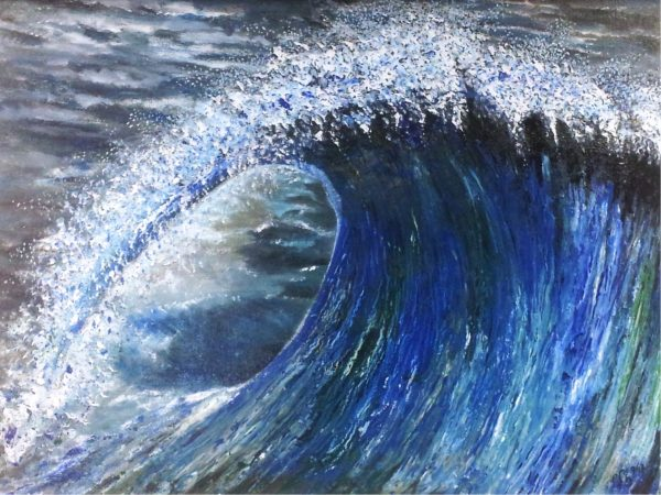 """Xavier 1 – """"Die perfekte Welle"""" 120cm * 140cm by Peter-Fischer Blessin"""