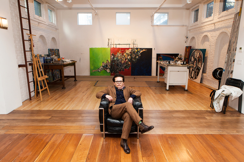 Georges Bergès in the Midtown Manhattan Studio. Courtesy of Georges Bergès Gallery.