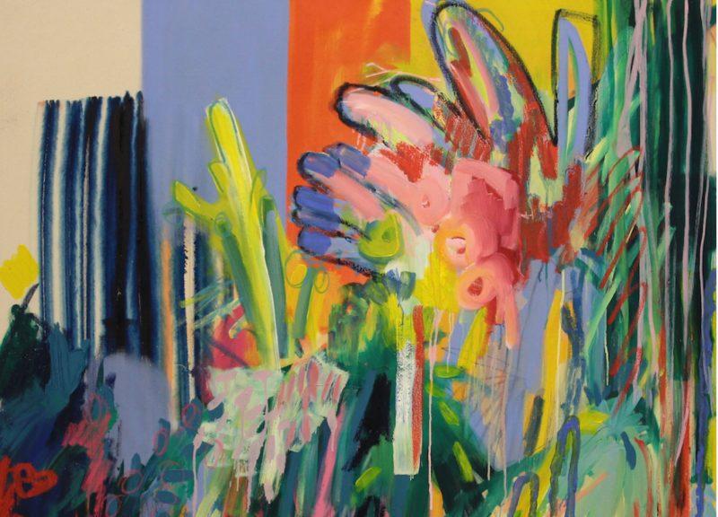 Floral Melt Khadija Choudhury 135 X 135 cm Material: Oil on canvas