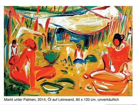 Torsten Schlüter Markt unter Palmen Kunst Seven Star Galerie Berlin Ausstellung