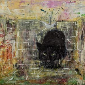 acrylgemälde ego katja kirseck kunst art ausstellung ölgemälde panther ego katja kirseck kunst aus berlin