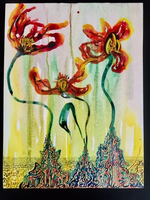Bouzoubaa kalligrafie kunst ausstellung digitale kunst junge kunst online die sonne scheint für alle peace love art