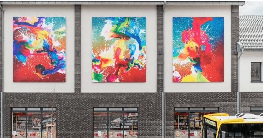 Kulturhaus Karlshorst Wandbilder christian awe kunst art lichtenberg berlin ausstellung kunst für alle