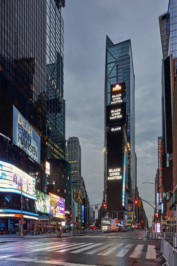 black lives matter time square pandemic city BLM NYC CP KRENKLER fotokunst fotografie krenkler BLM New york corona pandemie