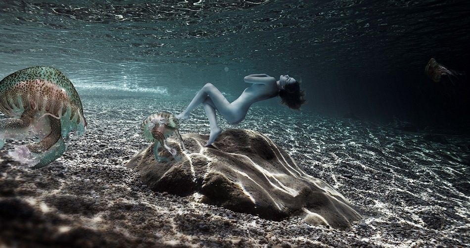 nostromo unterwasser fotografie gaby fey fotos unterwasserkunst sylt art fair ausstellung gaby fay kunst aus köln fotokunst fey model
