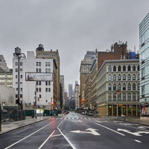 Lafayette Street Lockdown in New York Pandemic City Cp Krenkler Fotografie Fotokunst New York Fine Art Print