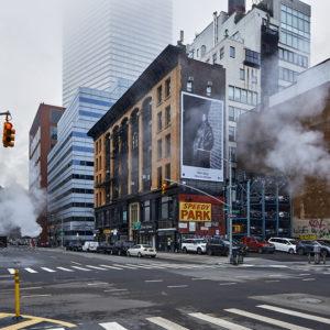 lockdown in new york downtown manhatten fotos cp krenkler kunst fotokunst aus nyc pandemie corona fotos new york leer krenkler