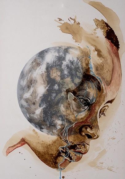 Marcel Wagner Kunst aus Kaffee Kaffeekunst der leise schrei der erde kunst art werk der woche arttrado