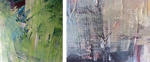 Hella Ridder Detailaufnahmen Essay Kunstwerke von Ridder Ausstellung Galerie Makowski Kunst