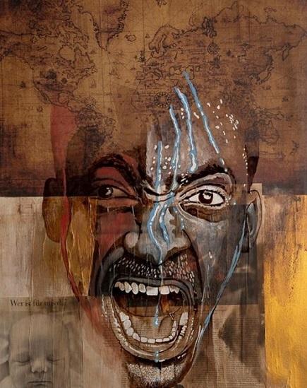 cry for the earth kaffeekunst kunst aus kaffee marcel wagner werk der woche arttrado ausstellung
