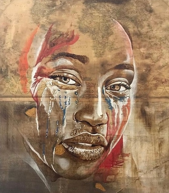 tears for the earth kaffeekunst kunst aus kaffee marcel wagner werk der woche arttrado ausstellung