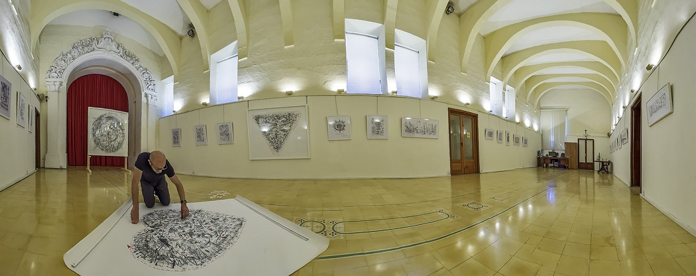 sacred rubbings mario cassar maltese banksy art exhibition ministry of gozo