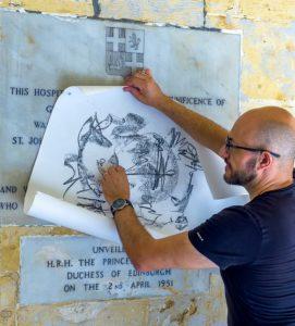 mario cassar ministry for gozo sacred rubbings art exhibition malta sacredrubbings cassar
