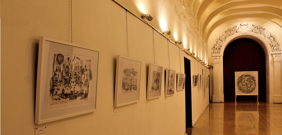 mario cassar gozo exhibition art ausstellung sacredrubbings sacred rubbings ministry for gozo exhibition hall kunst auf malta