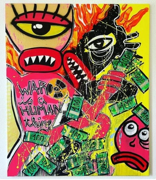 leon ferren schumacher war is a human thing kunst aus hamburg leon ferren art hamburg arttrado werk der woche künstler der woche galerie gesucht
