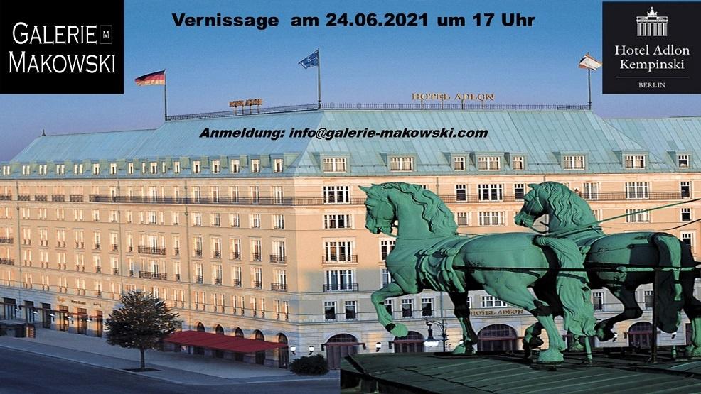 adlon berlin ausstellung in berlin kunst im adlon kempinski galerie makowski ausstellung im hotel kimpinski in berlin dieter hanf nyc artfair