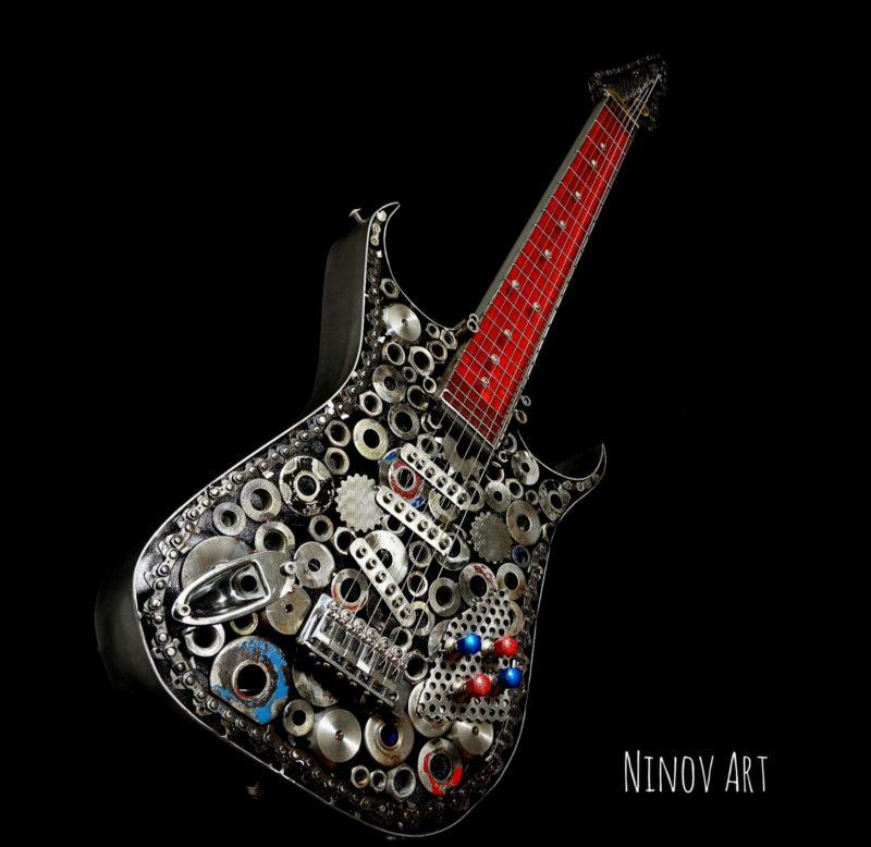 nikolay ninov art skulpturen werke der woche nikolai nivon kunst gitarre kunstwerk junge kunst online skulpturen aus edelstahl online galerie