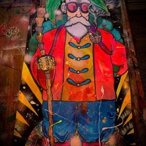muten roshi art dragon ball pop art by malte wendland BYMW Popart dragonball gemälde junge kunst online galerie erfahrung kunst kaufen