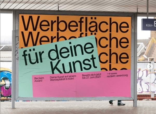 Kunst in Köln Reclaim Kollektiv Kunst auf Plakaten in Köln Künstler gesucht Gruppenausstellung kunst bewerbung