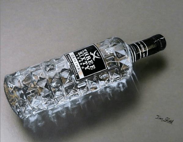 timo scheld hyperrealistische malerei kunst werk der woche arttrado online galerie erfahrung three sixty vodka art