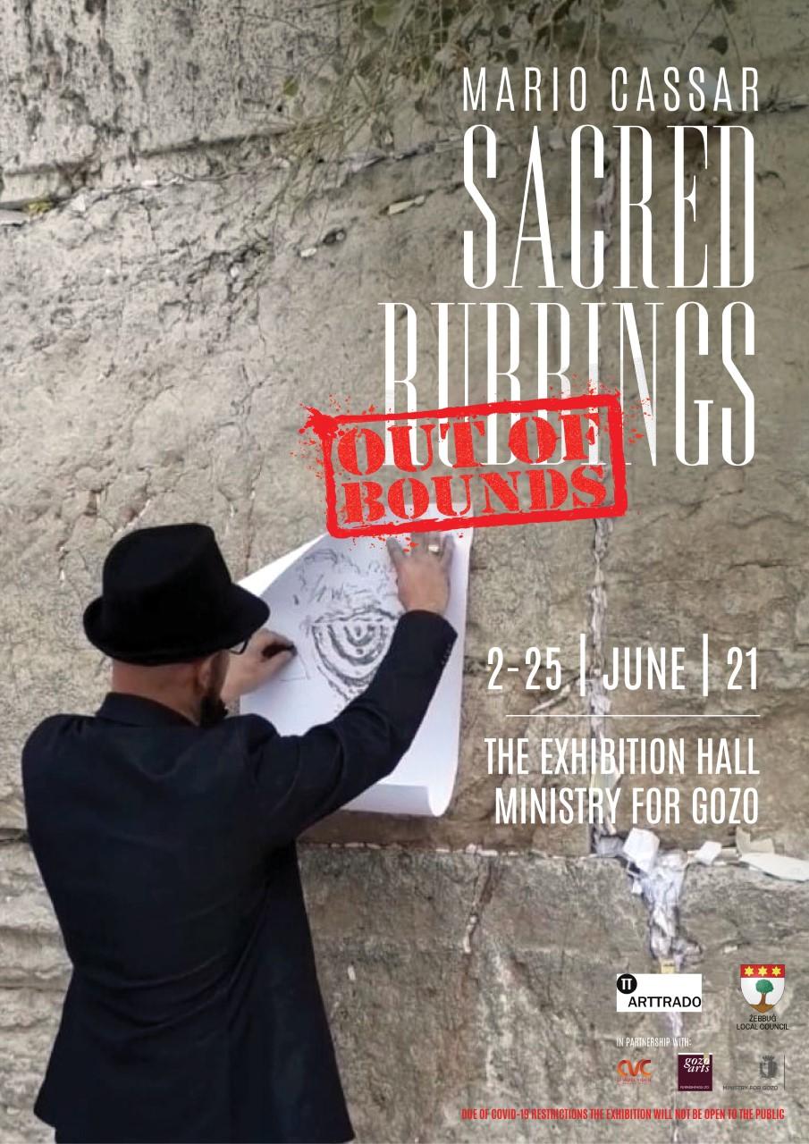mario cassar sacredrubbings sacred rubbings gozo out of bounds kunst auf malta victoria art ausstellung cassar