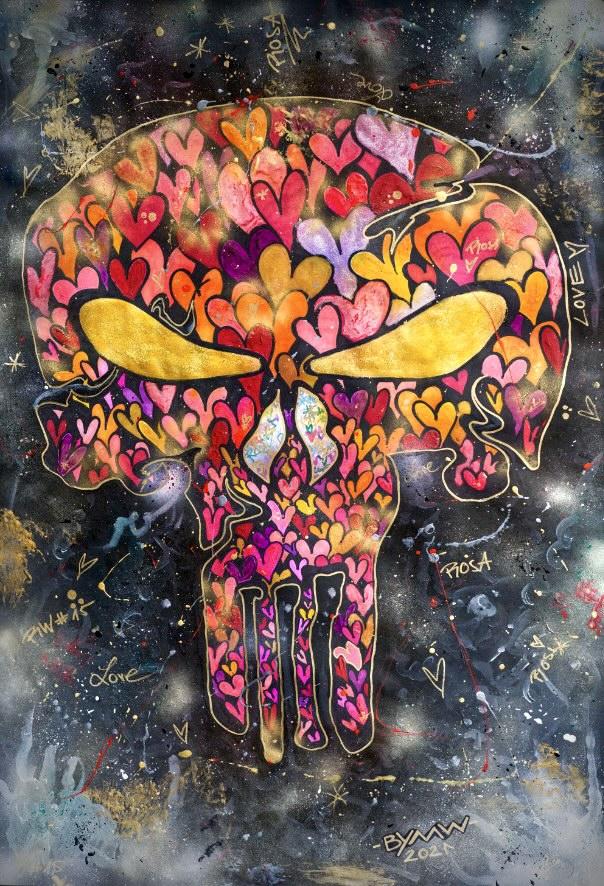 skull in love malte wendland kunst in hannover popart künstler ausstellung junge kunst kaufen online galerie arttrado erfahrung
