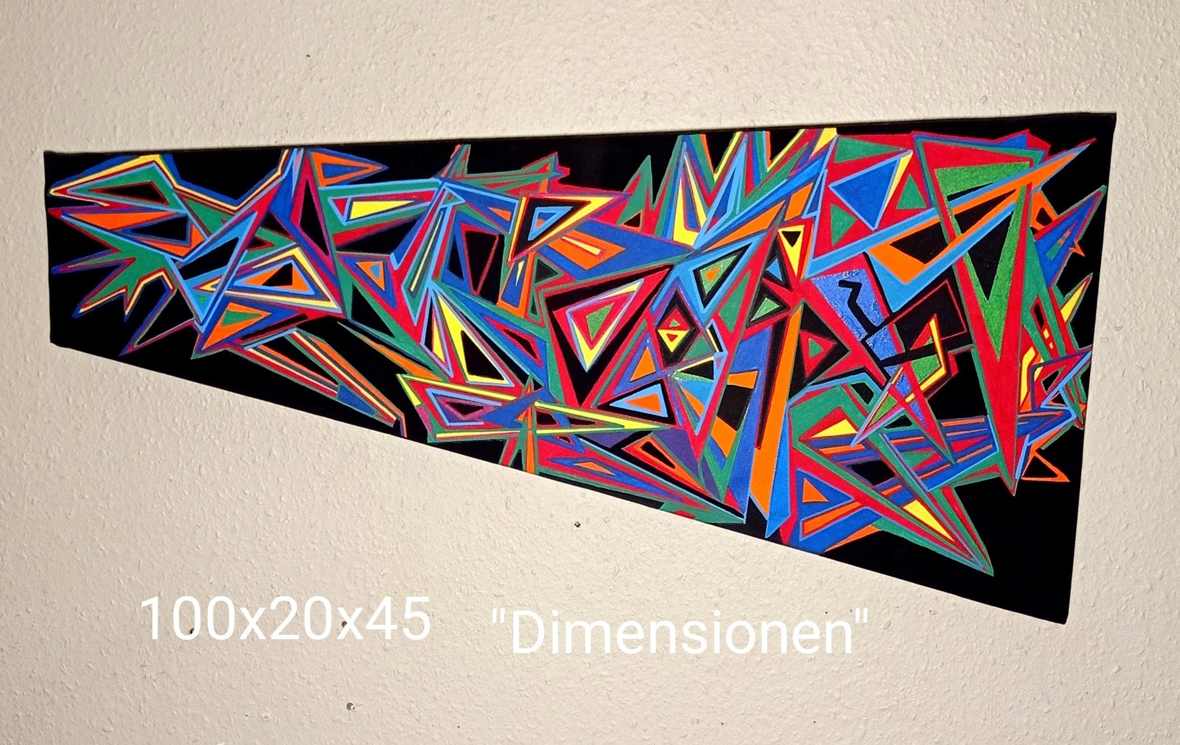 dimensionen kunst kaufen Mephistopheles Rex nicolas wezel abstrakt popart dimensionen kunstwerk arttrado
