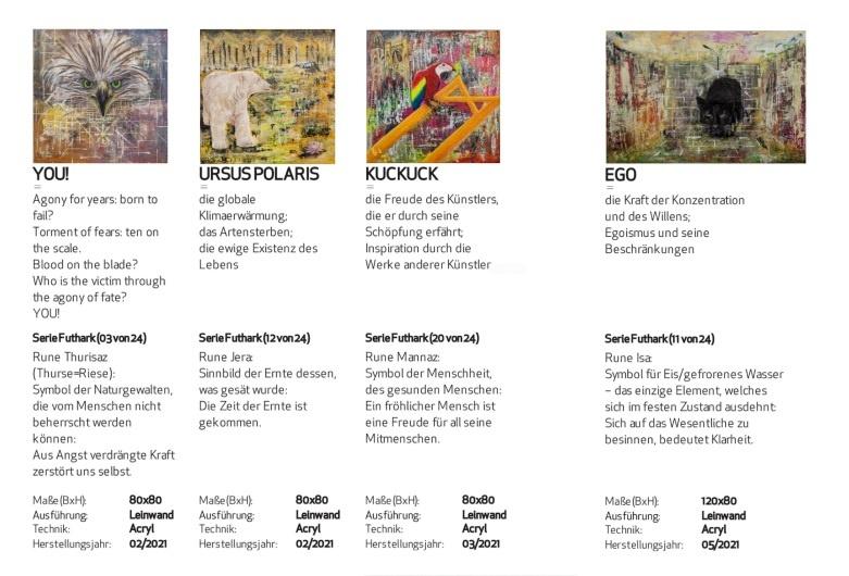 kakikunst ausstellung katja kirseck concert in the wild kunst kaufen online galerie erfahrung arttrado kunst in berlin futhark serie