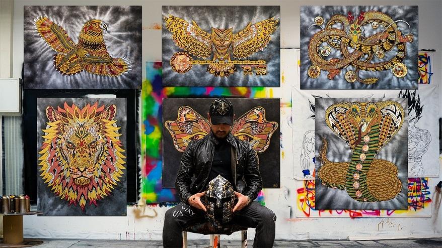 theodoros nikolaidis art and fashion kunst und mode ausstellung theo nikolaidis interview junge kunst online galerie erfahrung arttra künstlersupport do kunst entdecken arttrado