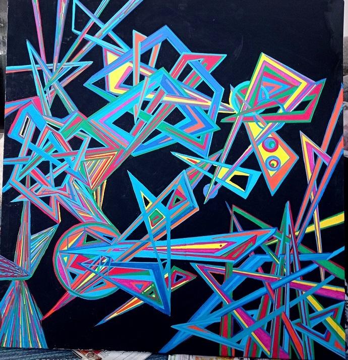 vision chaosdeterminismus nephisto kunst kaufen nicolas wezel kunst abstrakt arttrado online galerie erfahrung chaos Mephistopheles rex