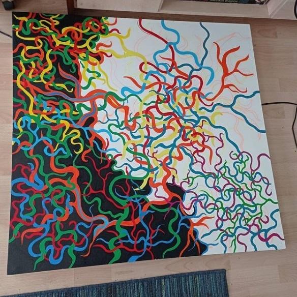 membrain mephistopheles rex kunst nicolas wezel werk der woche junge kunst online galerie erfahrung arttrado künstler kunst aus baden württemberg kunst kaufen