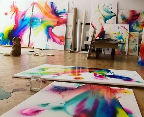künstlerin miriam smidt atelier kunst in berlin elysium ausstellung kapelle kunst entdecken arttrado online galerie