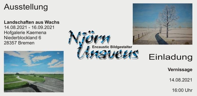 Encaustic Malerei Njörn Unaveus kunst in bremen ausstellung kunst kaufen online galerie arttrado künstler entdecken