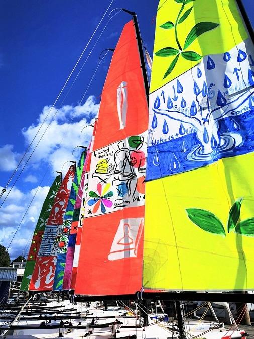 monheim segeln kunst regatta kunst auf dem wasser dirk geuer
