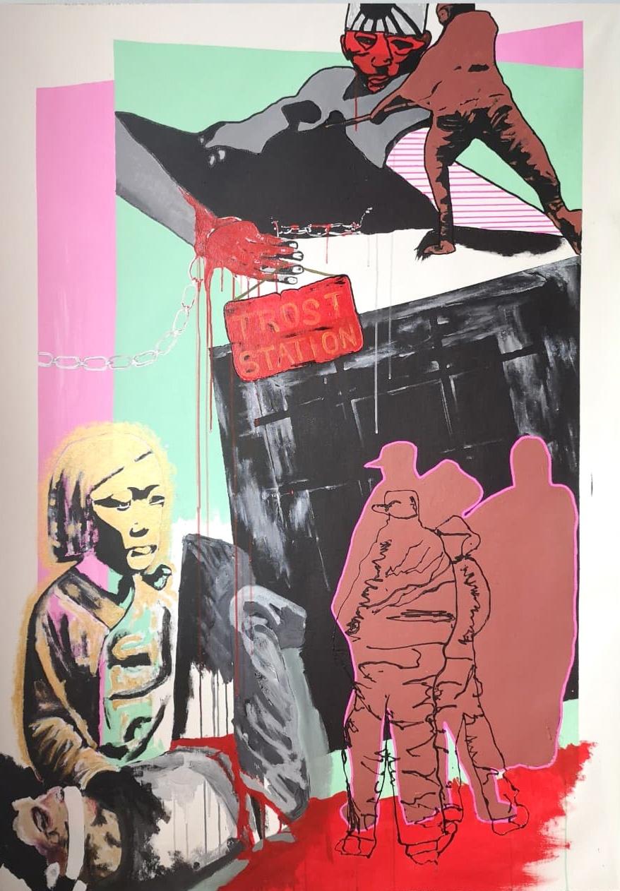 Ronny Reinecke Trostfrauen Ausstellung Kunst in Hamburg junge kunst kaufen online galerie arttrado kunstveranstaltung für den guten zweck