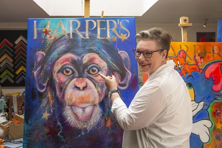 manuela rathje kunst interview arttrado online galerie gefährdete großkatzen kunstwerk urban jungle ausstellung