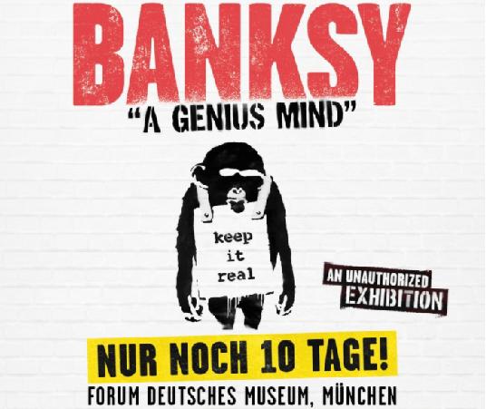 kunst in münchen banksy ausstellung genius mind streetart mural banksy isarforum junge kunst online entdecken arttrado