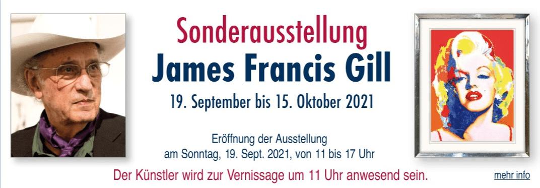 pop art james francis gill ausstellung deutschland galerie arttrado atelier kunst entdecken