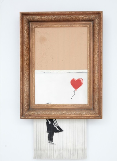 banksy love is in the bin auktion sothebys kunst artflipping junge kunst entdecken arttrado