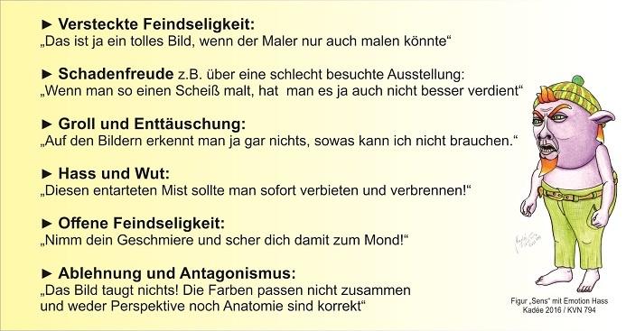 Tabelle der Emotionen nach Kadée Gedanken zum Kunstmarkt Kunst- und Künstlermarketing Teil 9 ARTTRADO